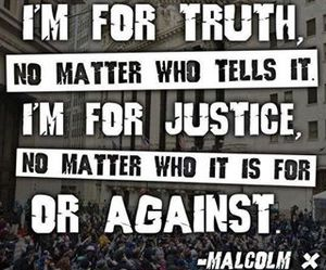 black and white, justice, and quote image