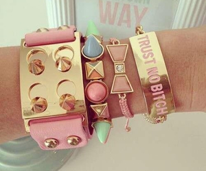 Braclets, pink, and style image