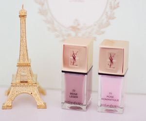 pink, YSL, and nails image