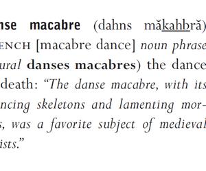 danse macabre, definition, and macabre image