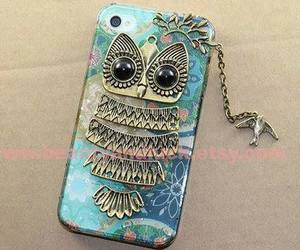owl, iphone, and case image