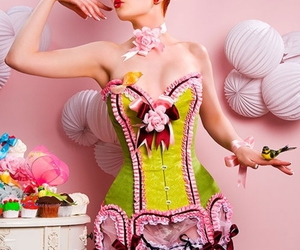 corset, pink, and candy image