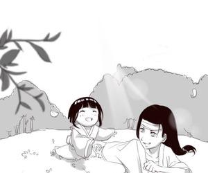 hinata, naruto, and neji image