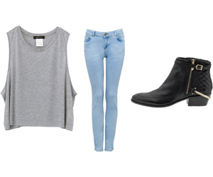 outfit, eleanor calder, and tee image