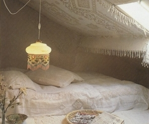 white, attic, and bedroom image