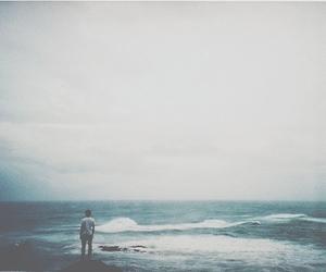 sea, boy, and ocean image