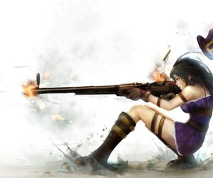 lol, caitlyn, and league of legends image