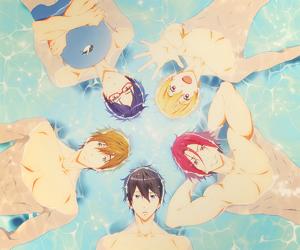 anime, matsuoka rin, and free! image