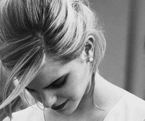 emma watson, emma, and black and white image