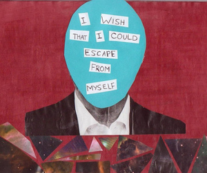 escape, myself, and text image