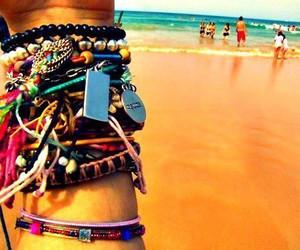 beach, bracelet, and summer image