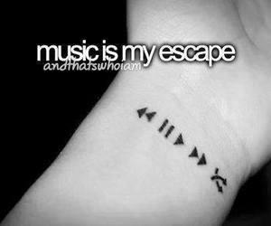 music, escape, and quote image