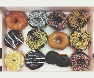 donuts, fall, and food image