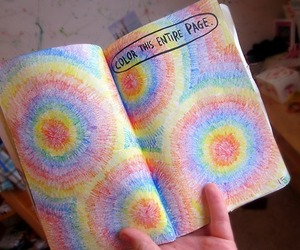 beautiful, colorful, and wreck this journal image