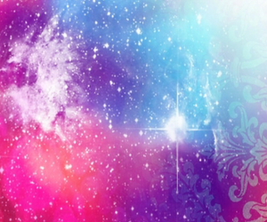 galaxy, pink, and blue image