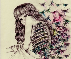 butterfly, colors, and art image