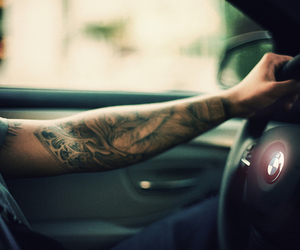 tattoo, bmw, and car image