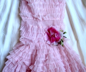 dress, ruffles, and fashion image