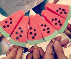 ice cream, watermelon, and food image