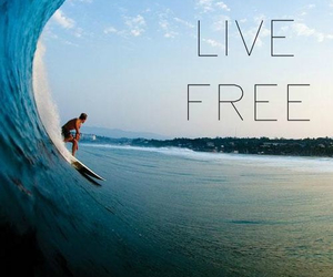 quote, live free, and sea image