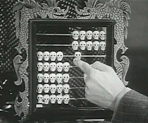 skulls and abacus image
