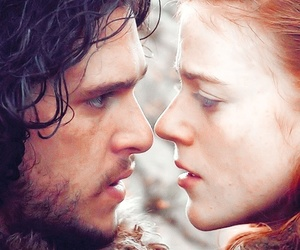game of thrones, jon snow, and love image