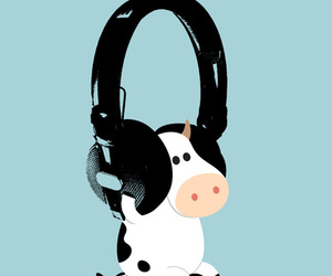 blue, music, and cow image