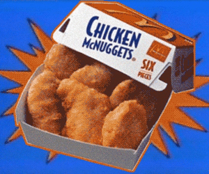 food, McDonalds, and chicken nuggets image