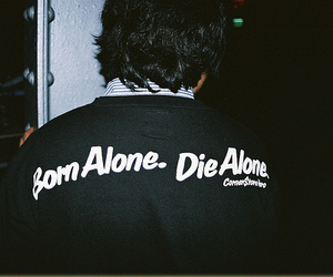 alone and text image