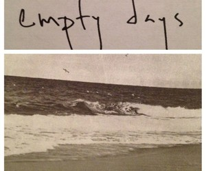 empty days, empty, and beach image