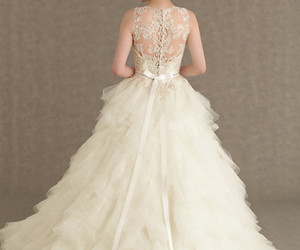 wedding dress, dress, and bride image