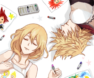 kingdom hearts, roxas, and namine image