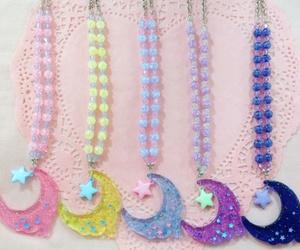 glitter, moon, and kawaii image
