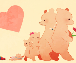 anime, bears, and family image