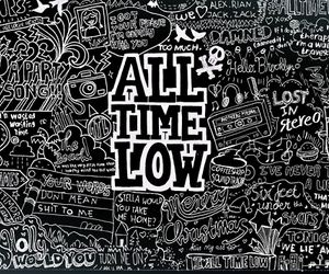 all time low, song, and band image
