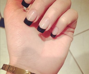 black, cartier, and nails image