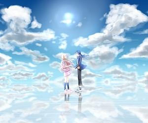 anime, anime girl, and blonde image