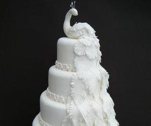 cake, food, and peacock image