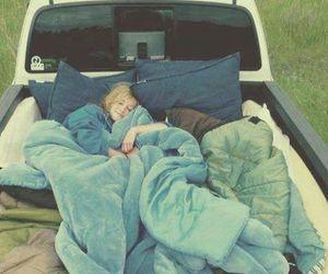 auto, meisje, and sleep image