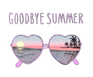 summer, goodbye, and sunglasses image