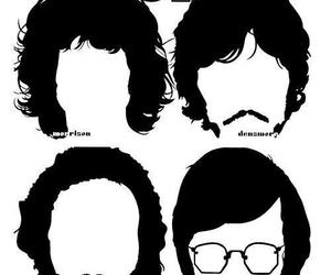 60's, faces, and Jim Morrison image