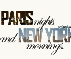 paris, new york, and night image