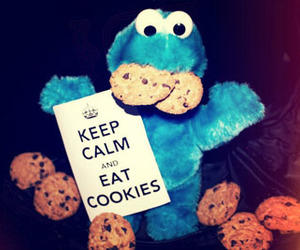 cookie monster, Cookies, and keep calm image