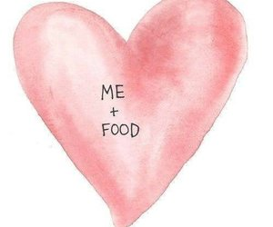 food, love, and text image