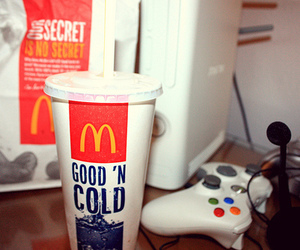 food, xbox, and mc donalds image
