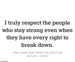 break, respect, and down image