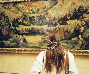girl, art, and bow image