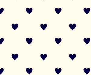 black, dots, and heart image