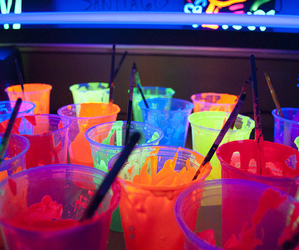 neon, colors, and drink image