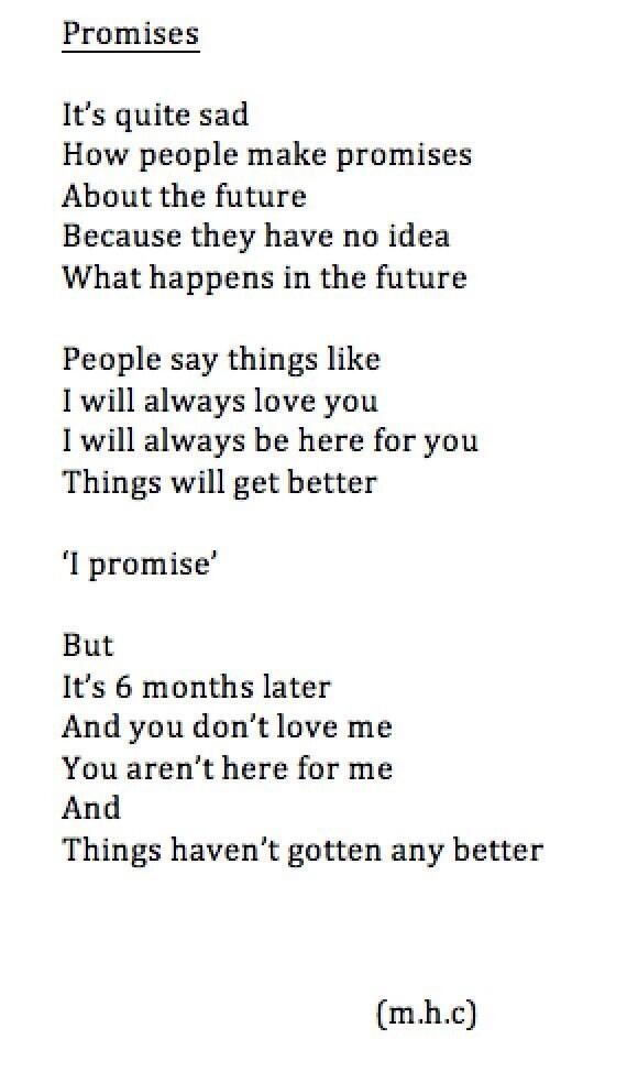 Promises discovered by Sophiaaa on We Heart It